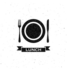 lunchtime label design vector image vector image