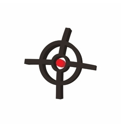 Polygraphic target icon cartoon style vector image vector image