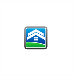roof home logo vector image