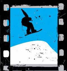 snowboard film vector image