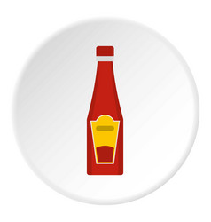 traditional tomato ketchup bottle icon circle vector image vector image