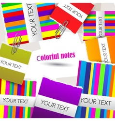 colorful little notes on white background with spa vector image vector image