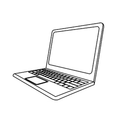 computer laptop icon image vector image