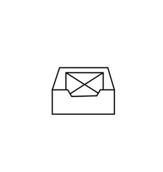 inbox email icon vector image