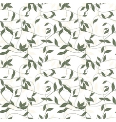 Seamless background of leaves vector image vector image