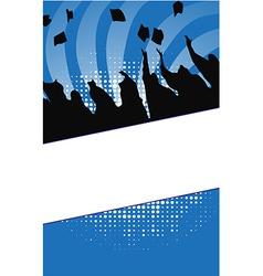 Graduation background vector image