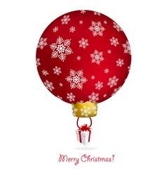 new year tree ball with air balloon shape vector image
