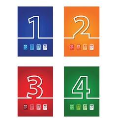 number background set vector image vector image