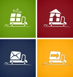 set icons for delivery service vector image