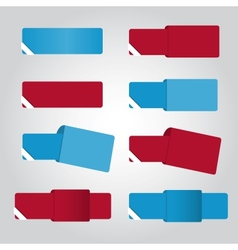 Set of eight color banners for web vector image vector image