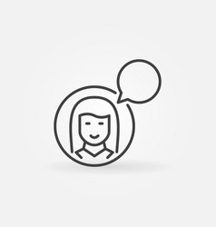 woman with speech bubble icon talking or vector image