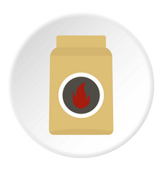 cardboard box of matches icon circle vector image