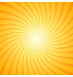 Orange color burst background vector image