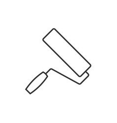 paint roller outline icon vector image