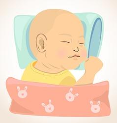 sleeping baby vector image vector image