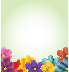 Spring background with flowers vector image vector image
