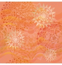 texture with ornaments in warm colors vector image vector image