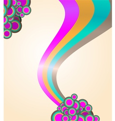 105abstract ribbon and circles background vector image