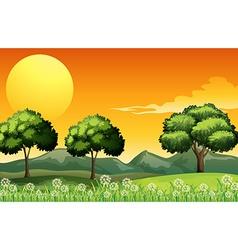 A beautiful landscape vector