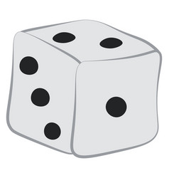 A ready to roll ludo dice or color vector