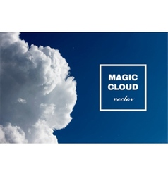 Abstract concept white cloud on blue sky backgroun vector
