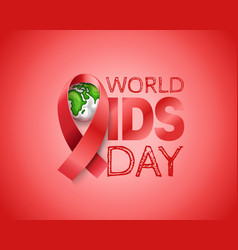 aids awareness symbol world aids day concept with vector image