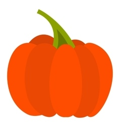 Autumn pumpkin icon flat style vector