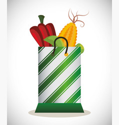 Bag shopping vegetables fresh image vector