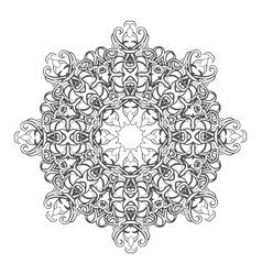 Beautiful vintage round pattern vector