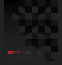 black background abstract geometric template vector image