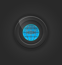 Black button web vector image