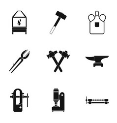 Blacksmith house icon set simple style vector