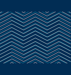 blue chevrion sashiko pattern background in vector image