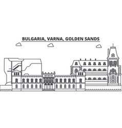 Bulgaria varna golden sands line skyline vector