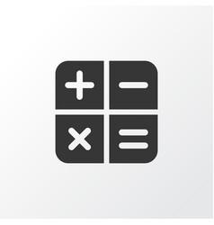 calculator icon symbol premium quality isolated vector image