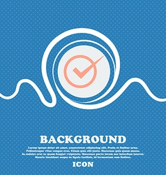 Check mark sign icon Checkbox button Blue and vector