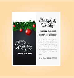 christmas 2019 party poster template vector image