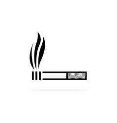 cigarette icon concept for design vector image