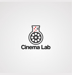 cinema lab logo icon element and template vector image