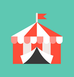 Circus tent icon amusement park related flat style vector