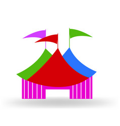 Circus tent logo sign vector