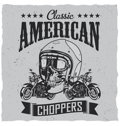 Classic american choppers poster vector
