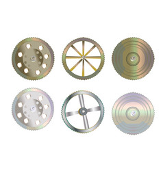 Collection gears isolated on white background vector