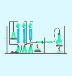 concept of chemistry experiment vector image