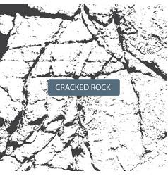 cracked rock vector image