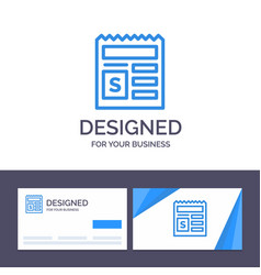 Creative business card and logo template basic vector