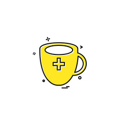 cup milk medicine icon design vector image