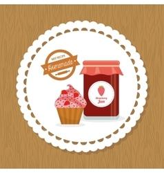 Cupcake label vector