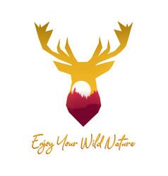 Deer quote vector