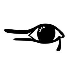 Egyptian eye on white background vector